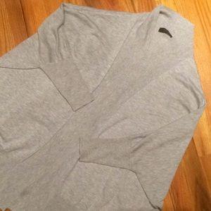 Cejon Gray Oversized Fit Dolman Sleeve Cardigan S